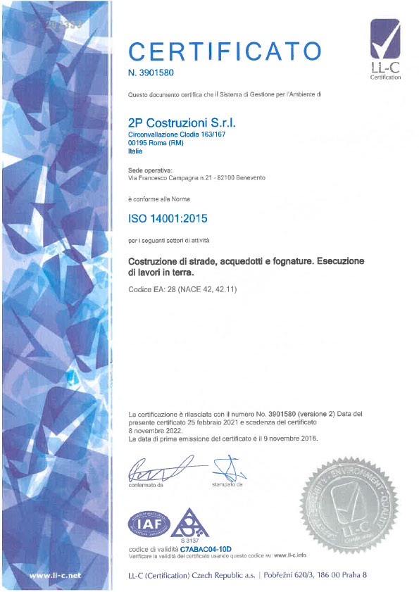 2P-certificato-14001-2015