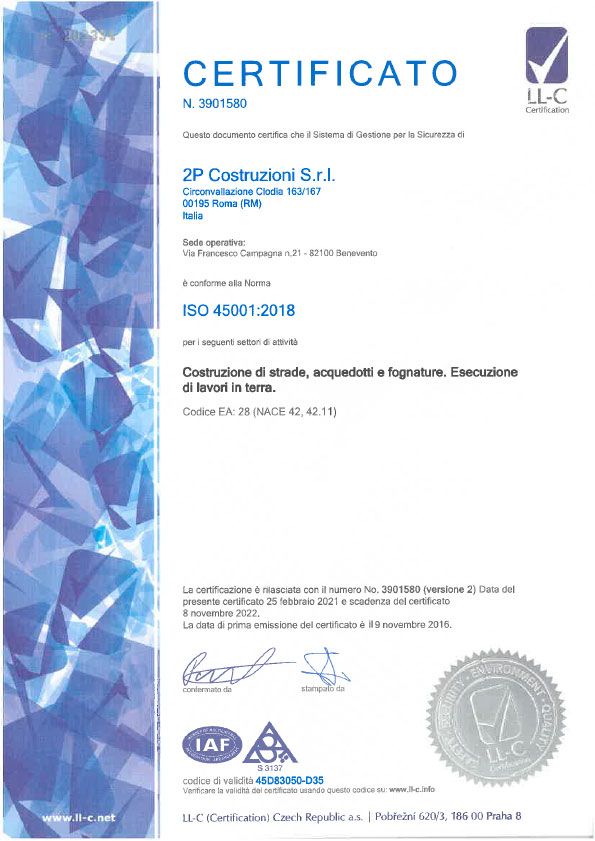 2P-certificato-45001-2018